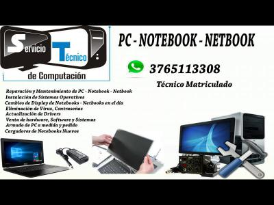 Varios  TECNICO PC NOTEBOOK Y NETBOOK