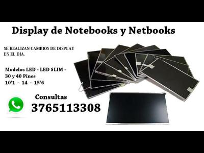 Servicios  Cambios de Display de Notebooks y Netbooks