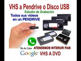 Varios  VHS Video a DVD, Pen Drive o Disco Rigido.