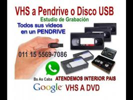 Servicios  VHS Video a Pen Drive o Disco Rigido.