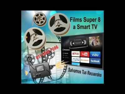 Servicios  Films Super 8mm Digital a Smart TV